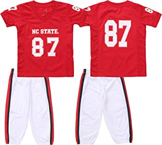 FAST ASLEEP NCAA Boys Toddler/Junior Football Uniform Pajamas