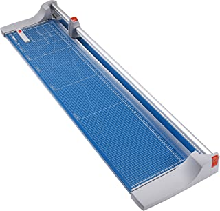 "Dahle 448 Premium Rolling Trimmer, 51 1/8"" Cut Length, Large Format, 20 Sheet, Self Sharpening Blade, Cuts in Either Direction, Automatic Paper Clamp Metal Base, Paper Cutter"