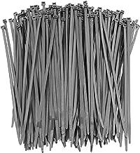 250 Premium Heavy Duty 10 Inch Zip Ties | Black Nylon Cable Ties | XGS Wire Ties by APTronix (10 Inch, Black)