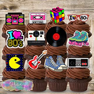 Totally 80s Cupcake Toppers (12)