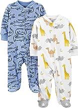 Simple Joys by Carter's Boys' 2-Pack Fleece Footed Sleep and Play, Alligator/Giraffe, Preemie