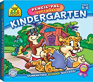 School Zone - Kindergarten Pencil-Pal Software, Ages 5 to 6, Letters, Numbers, Patterns, Puzzles, Sequencing, Rhyming, and More
