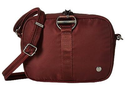 Pacsafe Citysafe CX Anti-Theft Square Crossbody Bag (Merlot) Cross Body Handbags