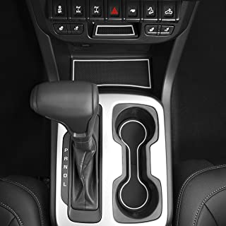 CupHolderHero for Chevy Colorado and GMC Canyon 2015-2020 Custom Liner Accessories – Premium Cup Holder, Console, and Door Pocket Inserts 26-pc Set (Crew Cab) (White Trim)