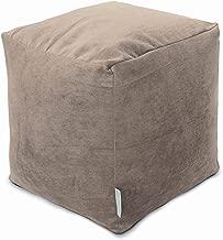 Majestic Home Goods Pearl Villa Indoor Bean Bag Ottoman Pouf Cube 17