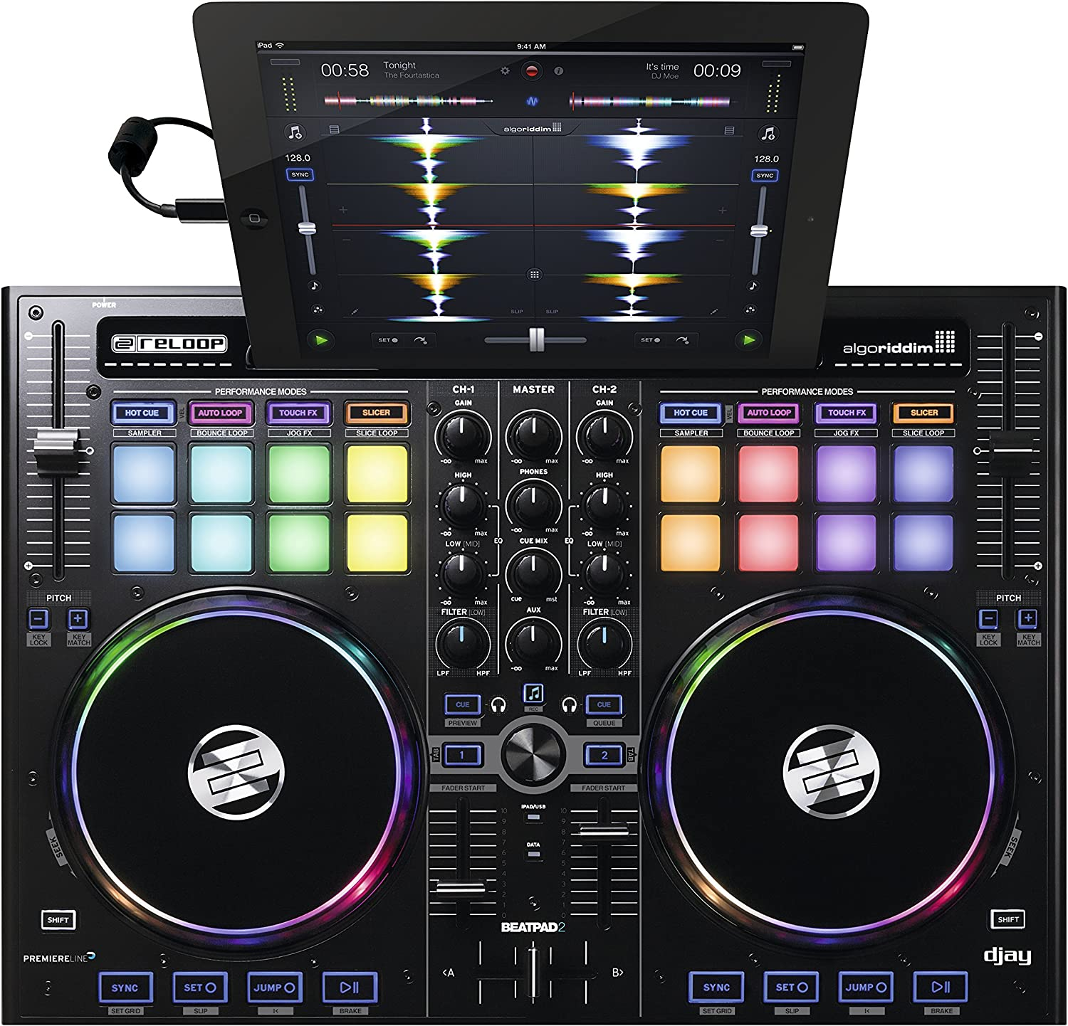 Reloop Same day shipping Beatpad-2 Cross Platform DJ New Free Shipping iPad Controller for Android