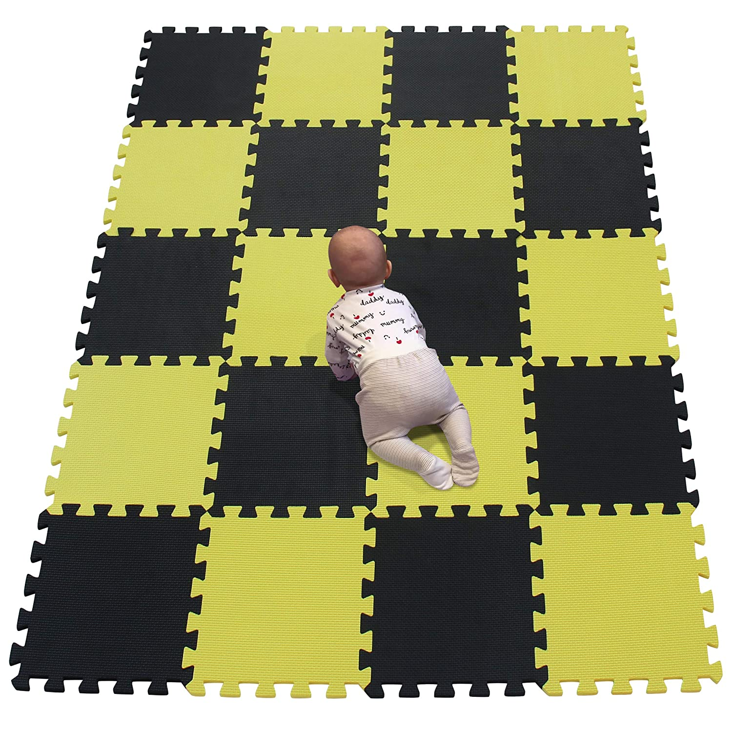 YIMINYUER Store 20Pc 30 x 1cm Popular products 10mm Playmat Floor Kids Ma Thicknes