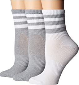 Originals Ankle 3-Stripe 3-Pack Quarter Socks