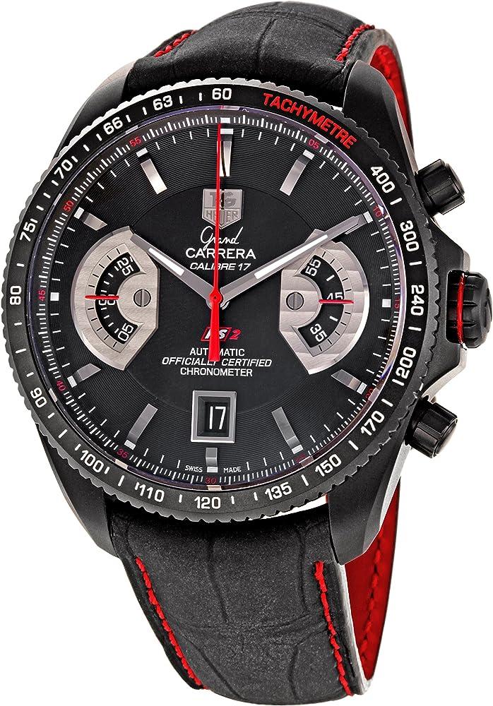 Tag heuer grand carrera  orologio cronografo automatico da uomo CAV518B.FC6237