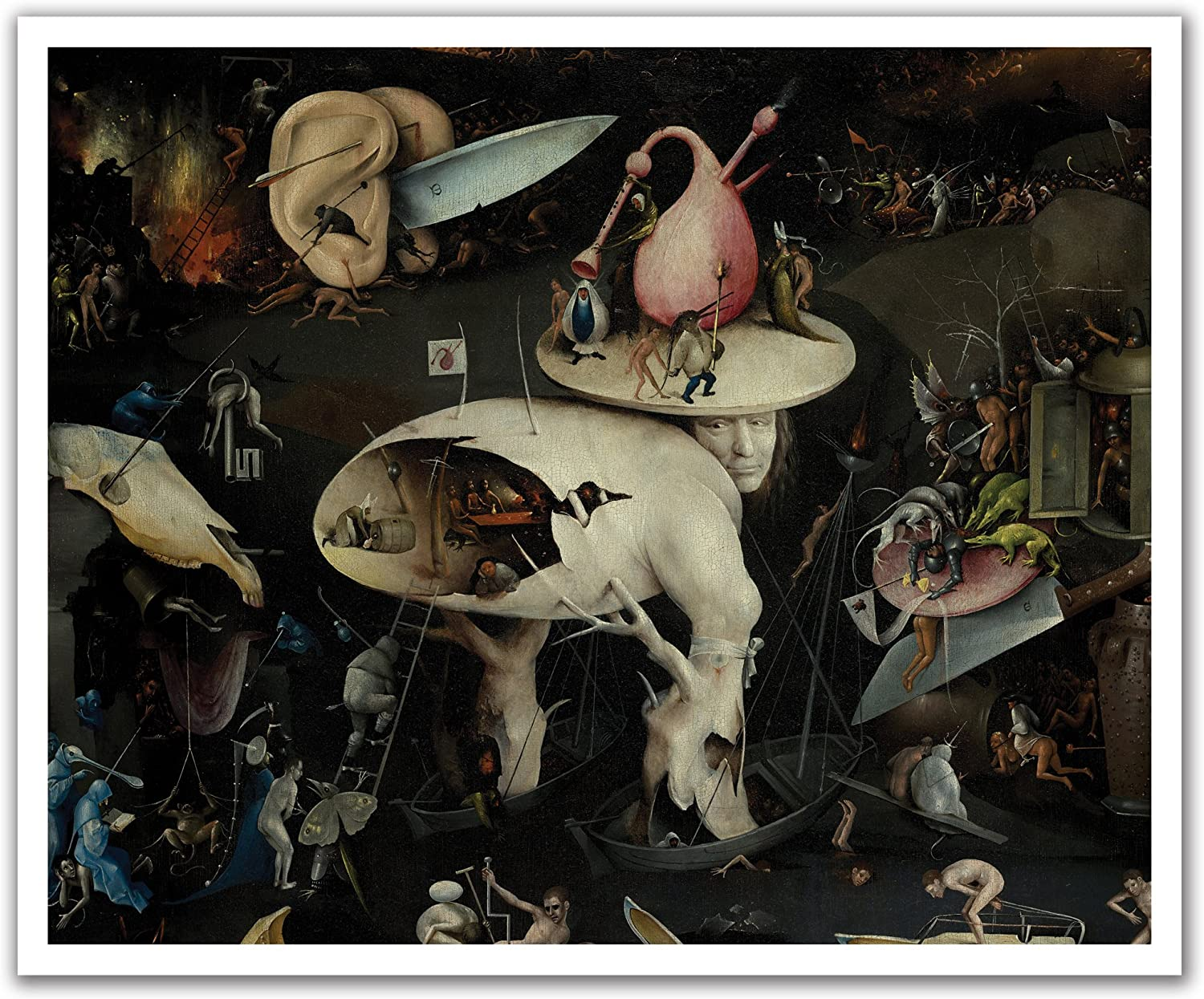 JP London POSLT2288 uStrip Lite Bosch Removable Wallpaper Decal Mural The Garden of Earthly Delights Painting, 24-Inch x 19.75-Inch
