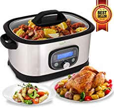 NutriChef Sous Vide Slow Cooker – 11 in 1 Steamer Stainless Steel High-Pressure..