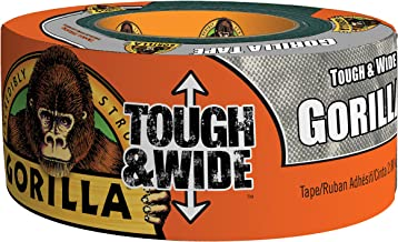 "Gorilla Tape, Tough & Wide Silver Duct Tape, 2.88"" x 30 yd, Silver"