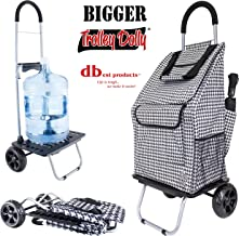 dbest products Bigger Trolley Dolly, Houndstooth Shopping Grocery Foldable Cart