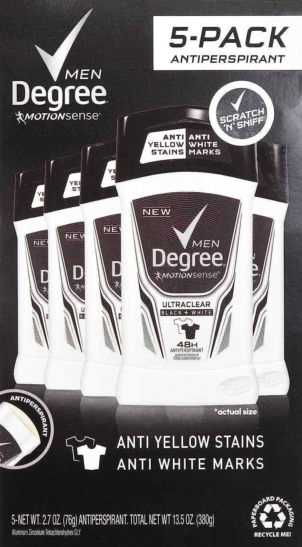 Degree Men Adrenaline Series Deodorant 5p Antiperspirant Industry No. 1 At the price of surprise 2.7oz