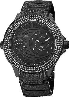 Men's Quartz Genuine Diamond Bracelet Watch JS80BK