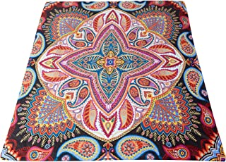 SPEED CARE The Living Store Premium Paisley Paradise 20lb Weighted Blanket with Removable Duvet Cover Cotton/Minky (Queen Size) Premium Glass Beads Plus Size