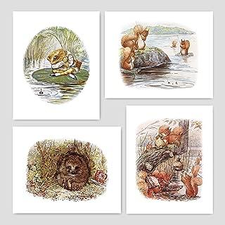 Beatrix Potter Prints (Nursery Art Boys, Peter Rabbit Wall Decor) Unframed 5x7 – Set of 4