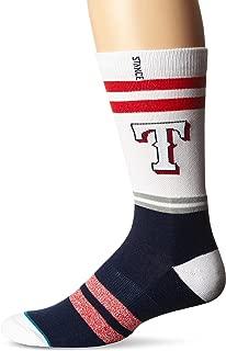 Stance Men's Rangers Crew Sock, Blue, Sock Size:10-13/Shoe Size: 6-12