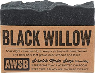 A Wild Soap Bar, Soap Bar Black Willow Bark, 3.5 Ounce