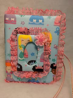 Holds 100 4x6 Photos Cat Kitty Kat Fabric Photo Album for Baby Girl Kitten Handmade
