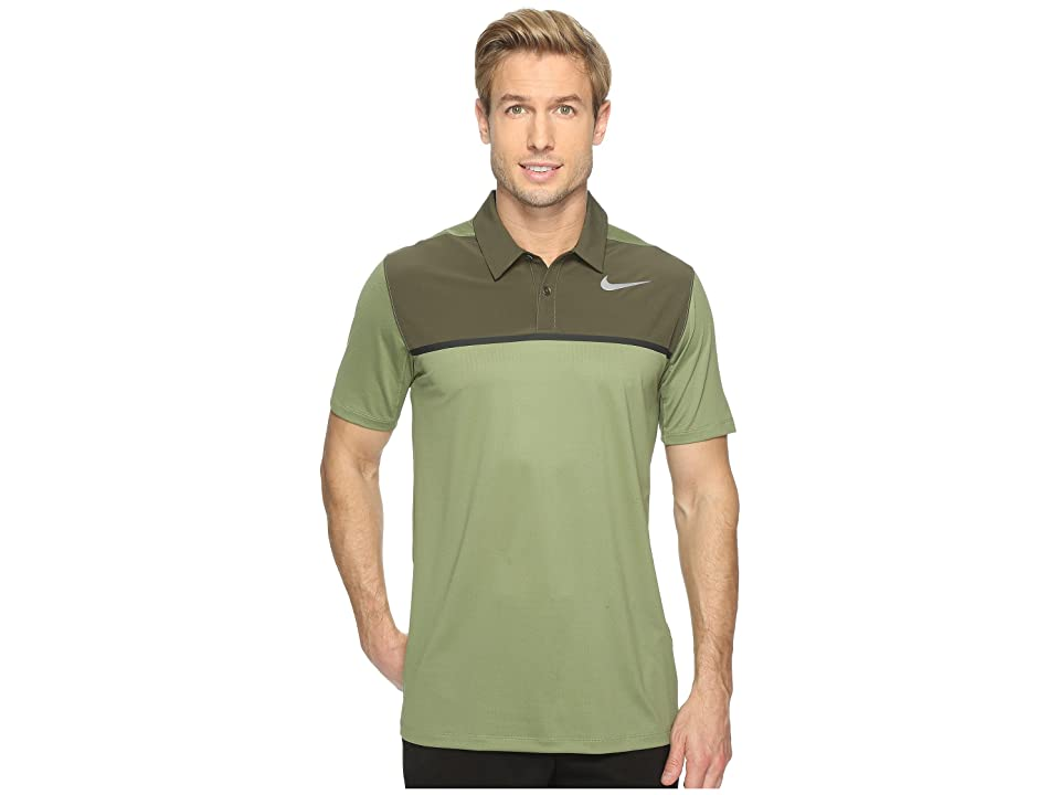 Nike Golf Mobility Precision Polo (Palm Green/Cargo Khaki/Black/Flat Silver) Men
