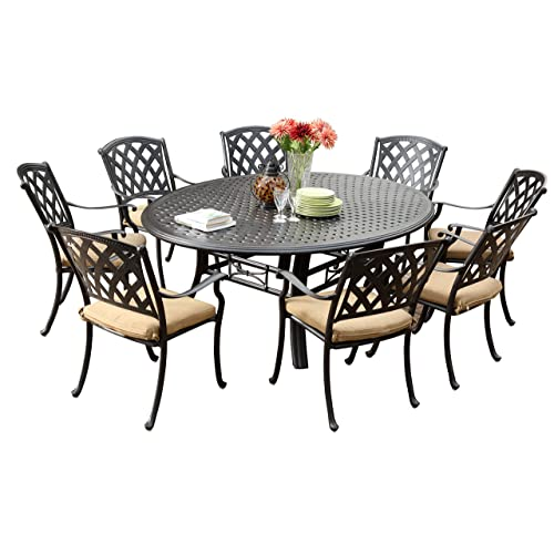 9 Piece Outdoor Dining Sets Amazoncom