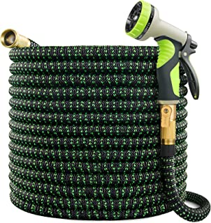 VIENECI 100ft Garden Hose Expandable Hose, Durable Flexible Water Hose, 9 Function Spray Hose Nozzle, Solid Brass Connecto...