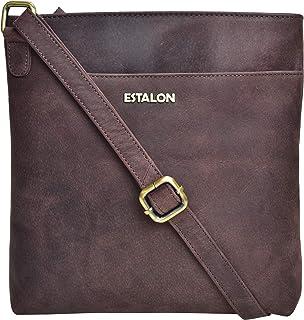 Premium Leather Crossbody Slim Bag for Women - Handmade Cross Body Over the Shoulder Purse Luxury Womens