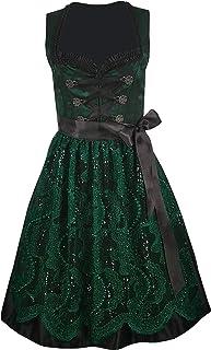 Iseaa Damen Dirndl Kleid Dirndlkleid Trachtenkleid Ilka Grün