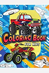 Coloring Book for Kids: Fun & Theme Based Coloring Book for Early Learning - Cartoon-Inspired Designs of Things that Go Paperback