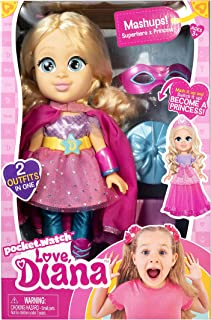 Love, Diana 13 inch Doll Mashup Princess/Superhero multi color, 79865