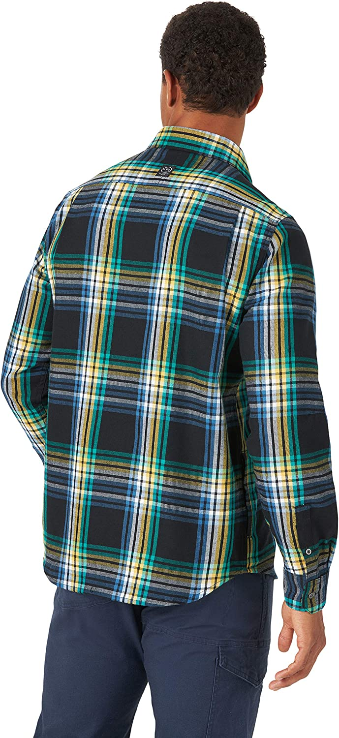 ATG by Wrangler Mens Long Sleeve Eco Utility Flannel Shirt