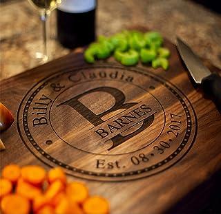 Personalized Cutting Board, USA Handmade Cutting Board - Personalized Gifts - Wedding Gifts for the Couple, Engagement Gif...