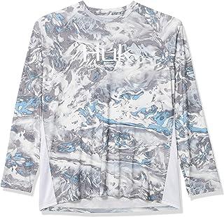 Mens Mossy Oak Pursuit Long Sleeve Shirt   Camo Long Sleeve Performance Fishing Shirt with +30 UPF Sun Protection
