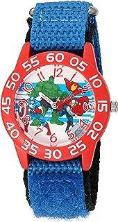 Marvel Boy's 'Captain America' Quartz Plastic and Nylon  Watch, Color:Blue (Model: W003235)