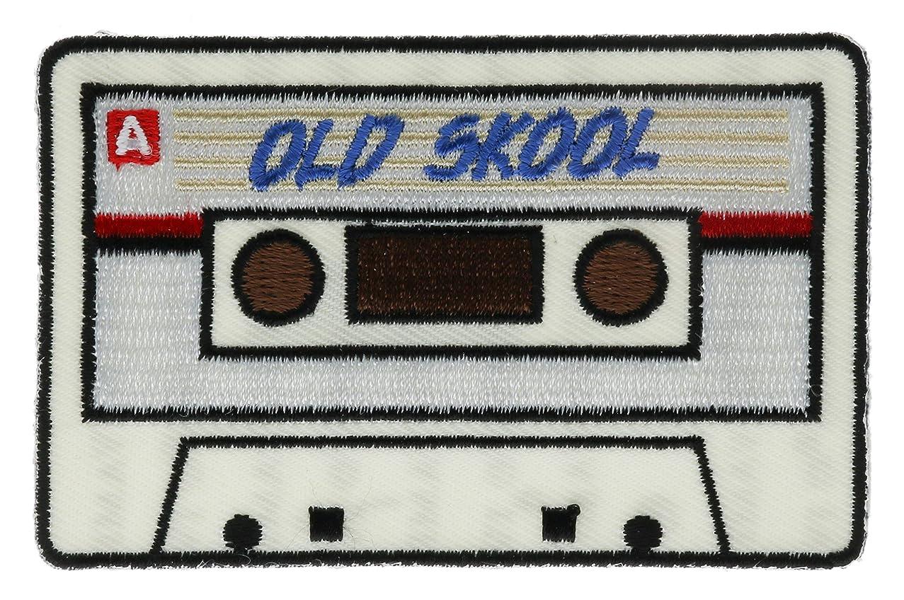 Old Skool Cassette Tape Patch 3 inch IVAN5946