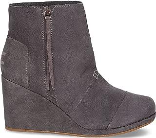 Women's Desert Wedge High Dark Grey Suede Boot 12 B (M)