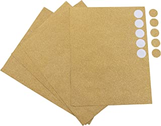 Invitation Seals - 240-Count 1 Inch Gold Glitter Dot Stickers for Envelope Seals, Luxurious Round Golden Seal Label, for Wedding Invitation, Announcements, RSVP, Bridal Shower, Craft Projects