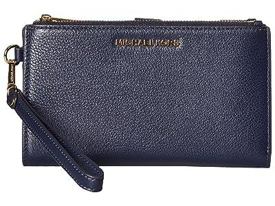 MICHAEL Michael Kors Adele Double-Zip Wristlet 7+ (Admiral) Wristlet Handbags