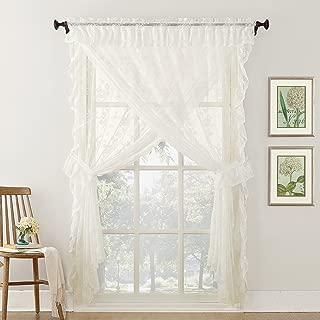 ruffled priscilla sheer curtains