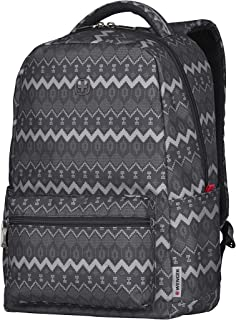 "Wenger 16"" Laptop Backpack with Tablet Pocket, Black Native Print 606470"