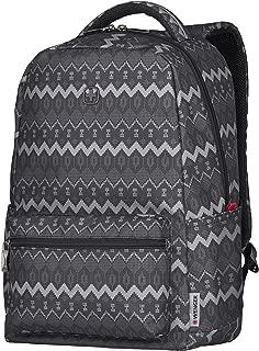 """Wenger 16"""" Laptop Backpack with Tablet Pocket, Black Native Print 606470"""