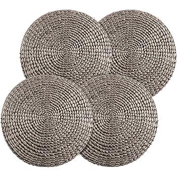 """Saro Lifestyle  Gianna Design Fuchsia 14/""""  Glass Placemats Set of 4"""