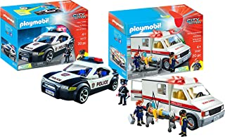 PLAYMOBIL® Police Car and Rescue Ambulance