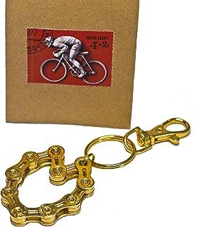 Re:Format-Handmade Fahrrad Schlüsselanhänger Velo-ve Gold Radsport Herz Geschenk Radfahrer Mountainbike Rennrad Upcycling BMX Schmuckanhänger Accessoires Geschenkidee