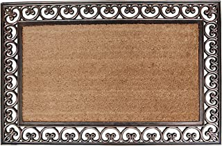 A1HC FIRST IMPRESSION Large Doormat | Rubber and Coir Doormat With Large Wipe Area| 30 x 48 Inch | Standard Double Doormat...
