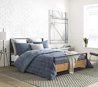 Kenneth Cole New York Holden Grid Blue Full/Queen Twill Comforter-Sham Set, Indigo
