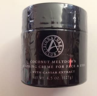 Signature Club a Coconut Meltdown Cleansing Cream for Face and Eyes with Caviar Extract 4.5 Oz. / 127 G