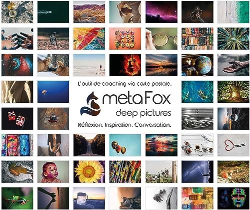 Coffret Original de cartes postales de motivation metaFox- un jeu de 52 cartes postales pour le coaching et la thérapie