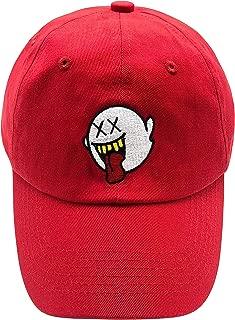zhidan wei Distressed Boo Mario Ghost Baseball Cap 3D Embroidery Dad Hats Adjustable Snapback